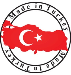 made in Turkey stamp vector image vector image