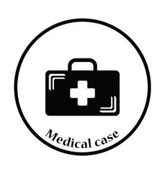 Medical case icon vector image vector image