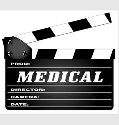 Medical clapperboard vector