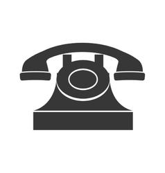 Phone icon retro technology design vector