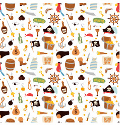 Pirate stickers icons seamless pattern vector