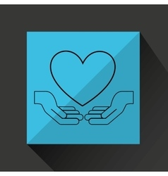 protection love design vector image vector image