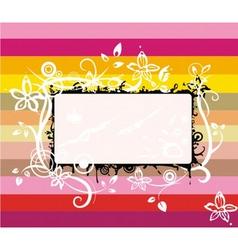 rainbow frame vector image vector image