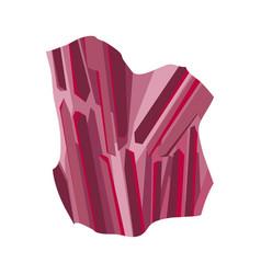 Semi precious gemstone jewel natural precious vector
