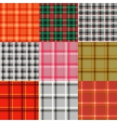Set of tartan Plaid varicoloured pattern vector image vector image