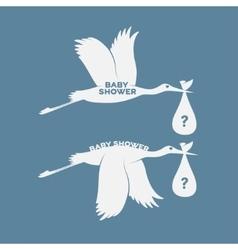 Storks set vector image