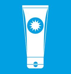 Sunscreen icon white vector