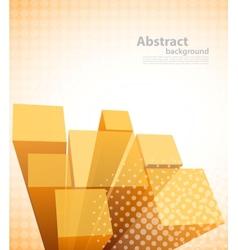 Tech orange background vector image vector image