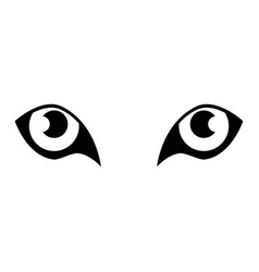 Tiger eyes icon vector