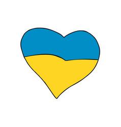 ukraine heart patriotic symbol vector image vector image