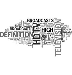 What you need to know about hdtv text word cloud vector