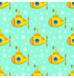 Yellow submarine pattern vector