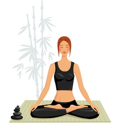 young woman doing yoga vector image vector image