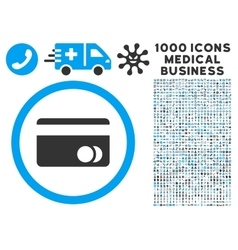 Banking card icon with 1000 medical business vector