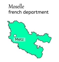 Moselle french department map vector