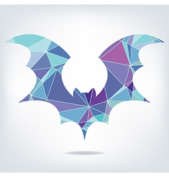Halloween flying bat silhouettes made of triangles vector