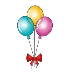 Balloons air party isolated icon vector