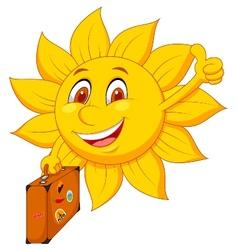 Cartoon sun travelle vector image