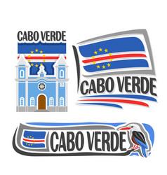logo for cabo verde vector image