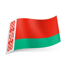 National flag of belarus wide red and narrow vector