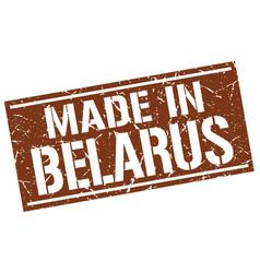 Made in belarus stamp vector