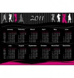 2011 fashion calendar vector