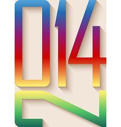 2014 happy new year rainbow background vector