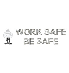 Health and safety banner vector
