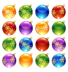 Bright christmas decorations vector