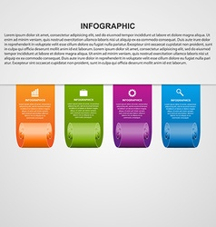 Ribbons modern template infographics vector