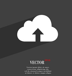 Backup symbol flat modern web design with long vector