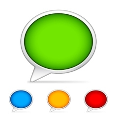 Color speech bubbles vector