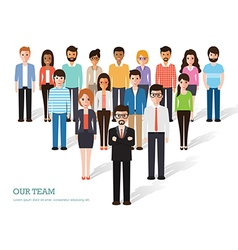 Group of people at work vector
