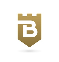 Letter b shield logo icon design template elements vector