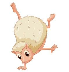 Hedgehog handstand vector image
