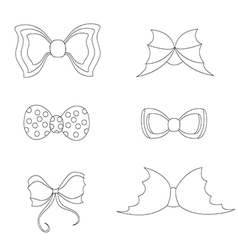 Set with bowties vector