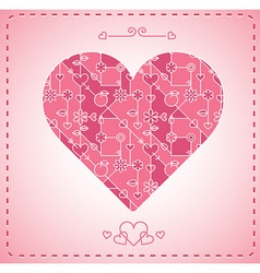 abstract modern heart background - card vector image vector image