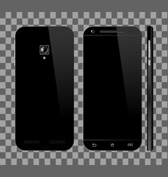 black smartphone with blank screen vector image vector image