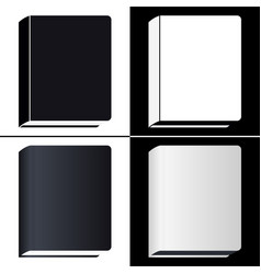 book icons set isolated pictogram of different vector image