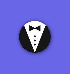 Butler bow icon vector