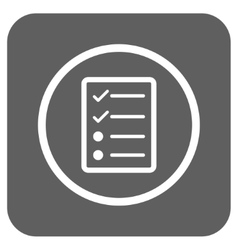 Checklist page flat squared icon vector