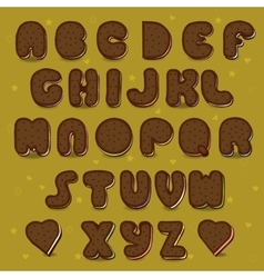 Chocolate Cookies Alphabet Vintage style vector image vector image