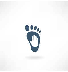 Creative foot care icon vector