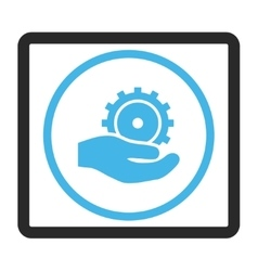 Development service framed icon vector