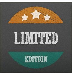 Empty realistic black board limited edition abstra vector image vector image