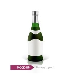 green bottles of cognac vector image vector image
