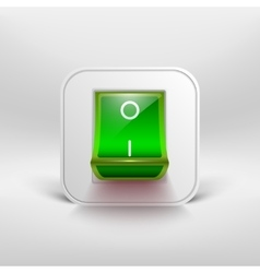 Green switch icon vector image