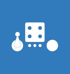 Icon board game piece dice vector