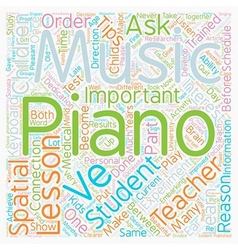 Important tips on piano lessons text background vector