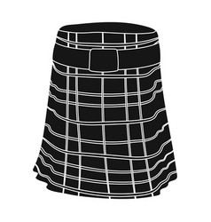 kilt icon in black style isolated on white vector image
